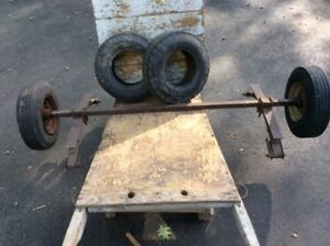 Utility Trailer Axle, Rims, and Leaf Springs