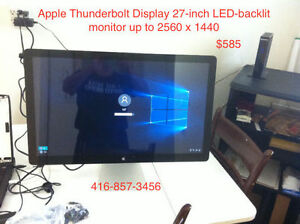 "Apple 27"" Thunderbolt Display LED monitor, 2560x1440 Resolution!"