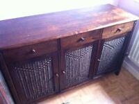 Great quality dark wood cupboard