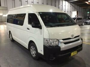 2014 Toyota HiAce TRH223R MY14 Commuter High Roof Super LWB White 4 Speed Automatic Bus Cardiff Lake Macquarie Area Preview