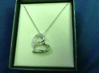 Diamond Accent Heart Necklace in Sterling Silver