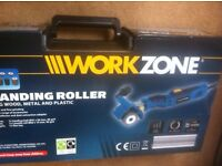 BRAND NEW 310w WORKZONE SANDING ROLLER WITH ACCESSORIES