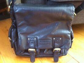 Patrick Cox black leather men's bag