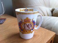 Coronation of King George VI 1937 Commemorative Mug Made By Shelley of London.