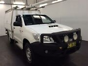 2014 Toyota Hilux KUN26R MY12 SR (4x4) White 5 Speed Manual Cab Chassis Cardiff Lake Macquarie Area Preview