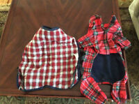 Two winter coats suit size 16 dog...12-20 pound small dog