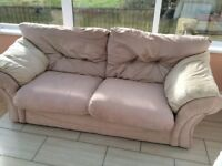 Three seat sofa and two singles