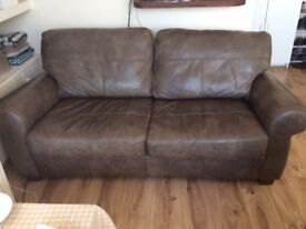 John Lewis 3 seater leather sofa - 2 years old. Very good condition