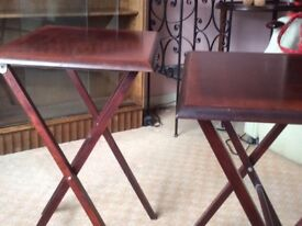 Two small side tables