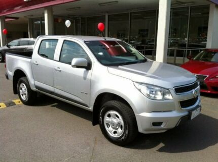 2013 Holden Colorado RG MY14 LX Crew Cab Silver 6 Speed Manual Utility