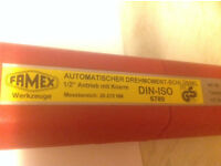 Torque wrench, Famex, used once, 28-210mm.