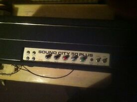 Sound city 50 plus valve amp head