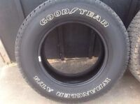 """Four 6 ply Goodyear Wraglers 18"""""""