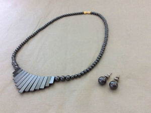 Hematite Gemstone Necklace and Earring Set Kingston Kingston Area image 2