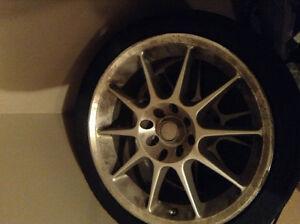 Set of 4 Low Profile Tires w/ Rims - 4 Primax 16 Inch