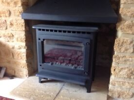 Gazco Marlborough medium coal effect LPG fire, and hood, excellent condition