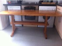 Large antique pine dining table