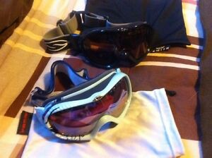 2 Pair Snowboarding Goggles - Like new!!