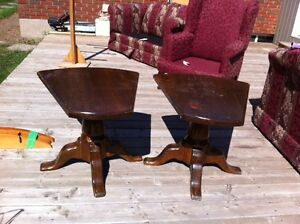 2 UNIQUE CUSTOM MADE END TABLES  - $40 FOR THE PAIR