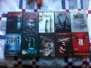 10 great horror DVDs including some saw movies