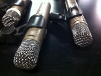 3 x well used C1000 microphones with hard case