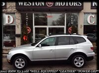 2007 BMW X3 3.0si *WELL EQUIPPED* POWER GRP* LEATHER