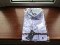 """Luxury Marks and Spencer shirt size 15"""" pink and lilac stripe"""