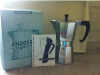 Andorra Express Stove Top Coffeemaker with Original Box & Instruction Leaflet.