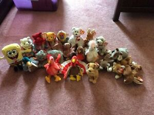 Beanie babies in excellent condition. Some older retired ones.