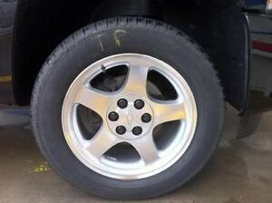 "WANTED- Set of 17"" ALLUMINUM CHEVY SILVERADO RIMS"