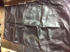 Two Real Leather Cushion Covers