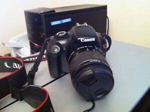 Canon T3 with charger and 8 GB SD card