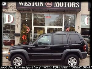 2006 Jeep Liberty Sport*4X4*WELL EQUIPPED*IN-HOUSE FINANCING