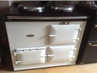 Gas white hot water Aga , serviced every year, new burner, in good condition