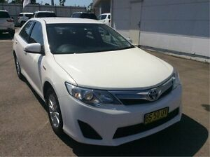 2012 Toyota Camry AVV50R Hybrid H White 1 Speed Constant Variable Sedan Cardiff Lake Macquarie Area Preview