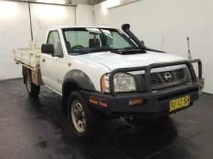 2008 Nissan Navara D22 MY08 DX (4x4) White 5 Speed Manual Cab Chassis