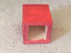 Red Plywood Handcrafted Small Storage Home Indoor Box
