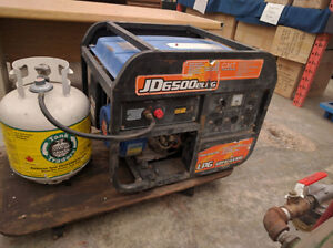 JD 6500 PROPANE GENERATOR WITH ELECTRIC START WORKS GREAT $525