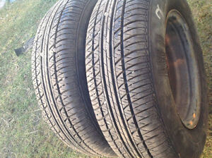 (205 75 15) 2 TIRES WITH RIMS 95%TREAD FOR Grand CARAVAN