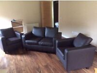 Faux Leather Suite - Great Condition