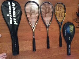 SQUASH RACKETS & BABOLAT JR TENNIS RACKET