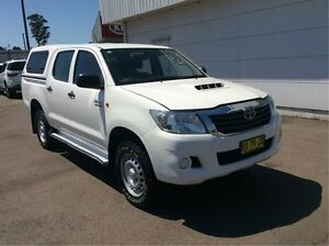 2014 Toyota Hilux KUN26R MY14 SR Double Cab White 5 Speed Manual Utility Cardiff Lake Macquarie Area Preview
