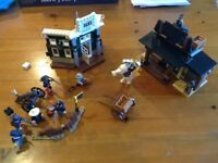 Lego Lone Ranger - 2 sets. Colby City Showdown & Cavalry Builder. Complete.