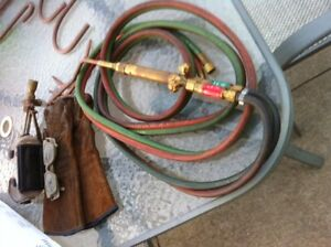 torch hose set with brazing and cutting brass torches