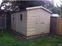 Wooden shed - brand new 10x6 £799, Tanalised wood - other styles & sizes available