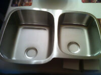 Double sink - stainless steel - brand new
