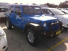 2011 Jeep Wrangler JK MY2010 Unlimited Sport Blue 6 Speed Manual Softtop Maryville Newcastle Area Preview
