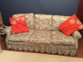 "**FREE TO COLLECT** 3 seater Laura Ashley ""Snowden"" print sofa"