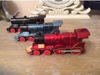 3 Cast Iron Steam Trains