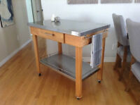 Contemporary Stainless Kitchen Cart